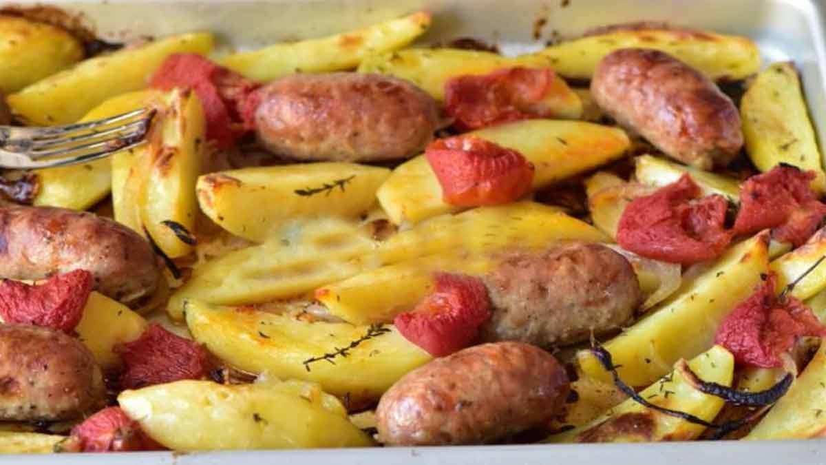 Pommes de terre et saucisse à la sicilienne