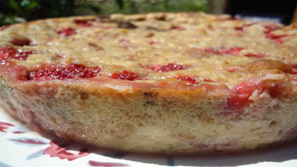 Pudding classique à la fraise