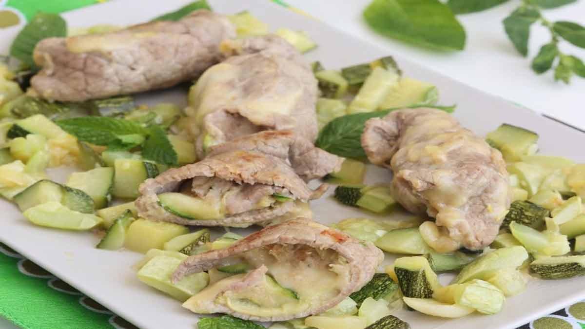 Rouleaux de viande aux courgettes et mozzarella