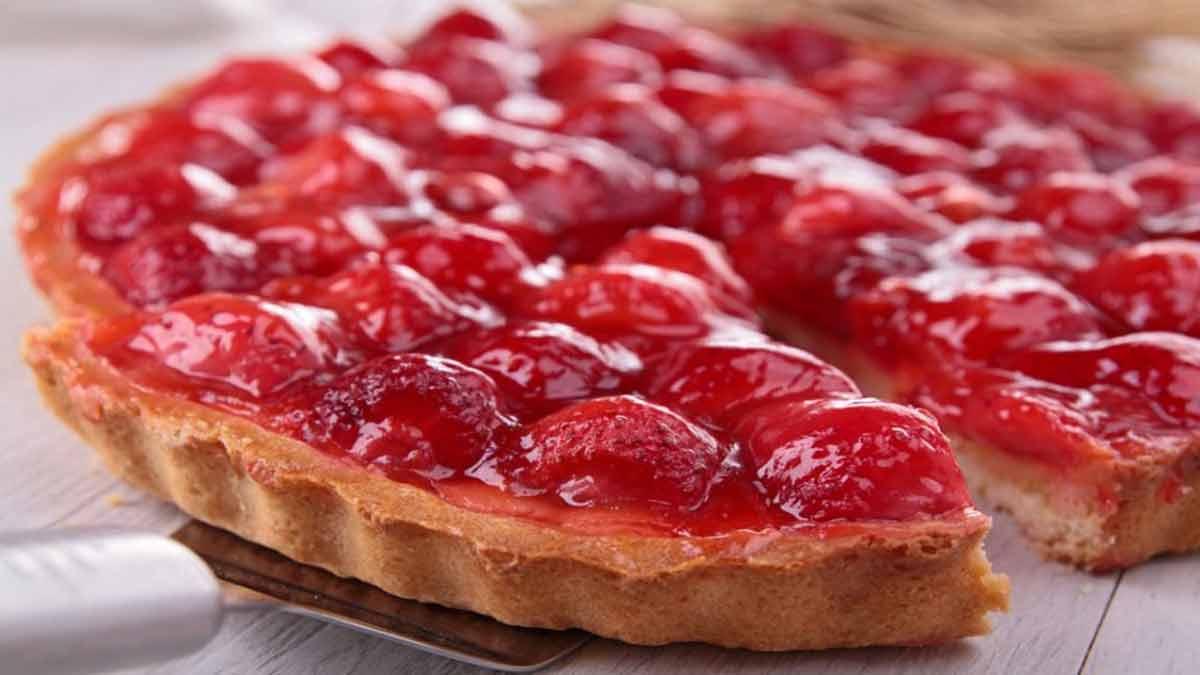 Savoureuse tarte sablée aux fraises