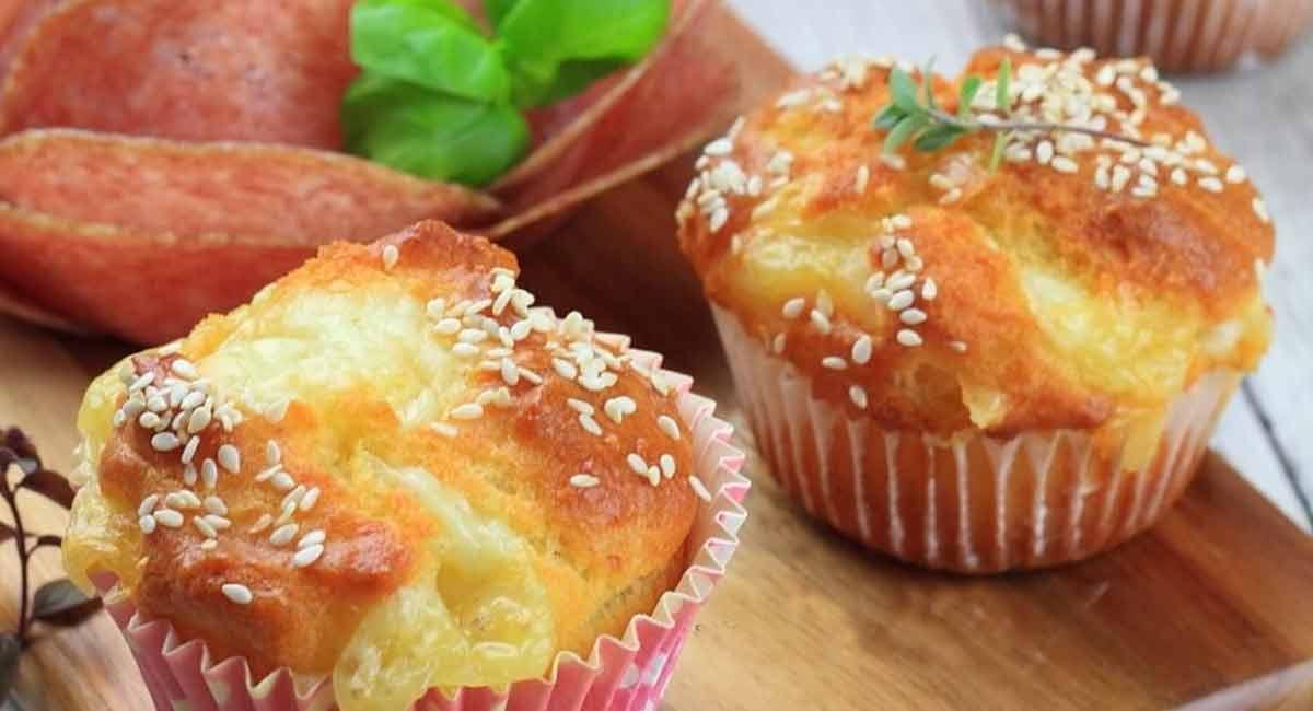 Savoureux muffins au fromage