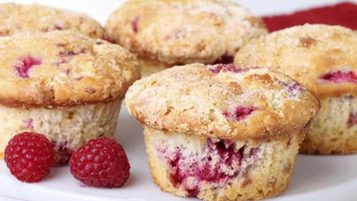 Splendides muffins au yaourt et aux framboises