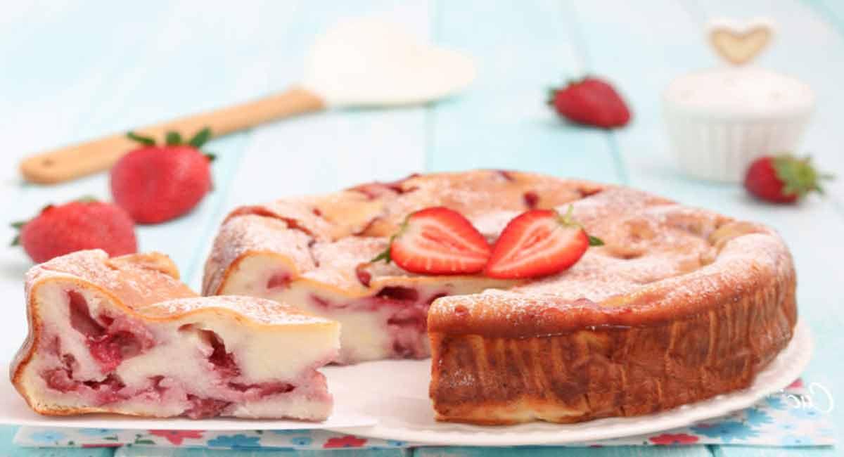Sublime gâteau extra léger aux fraises