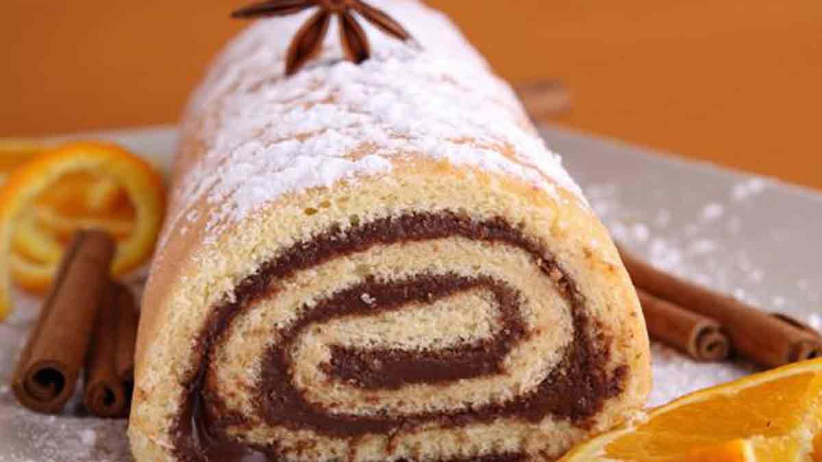 Sublime gâteau moelleux roulé au Nutella