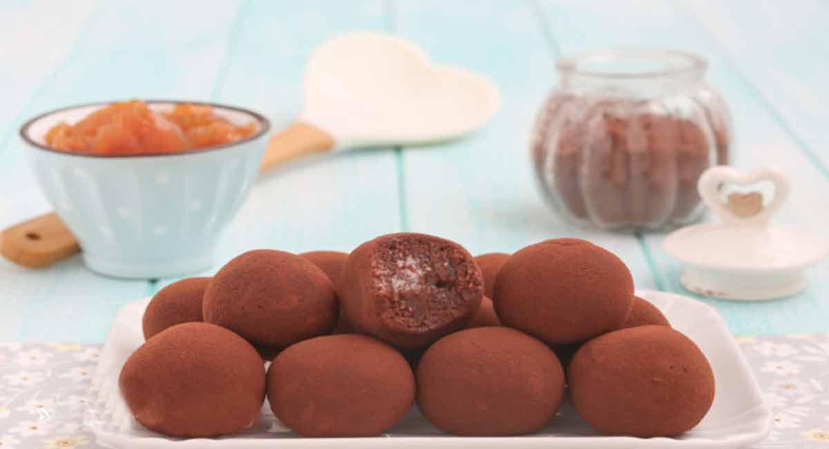 Superbes truffes aux abricots et chocolat