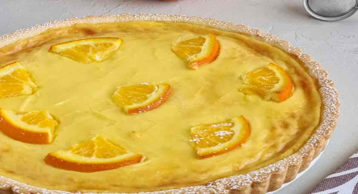 Tarte à la crème orange