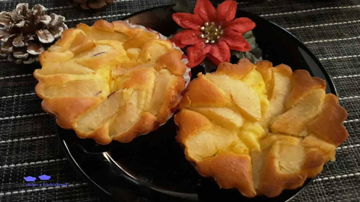 tartelettes aux pommes et yaourt
