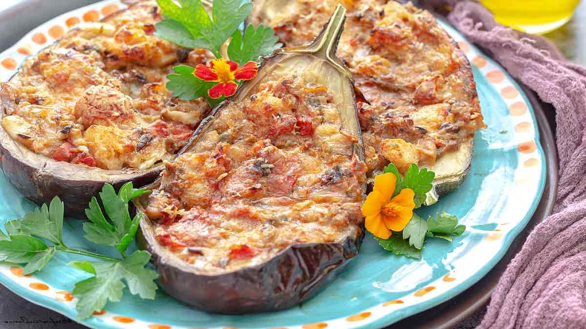 aubergines farcies à la sicilienne