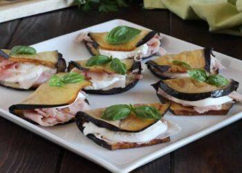 aubergines farcies au jambon et à la mozzarella