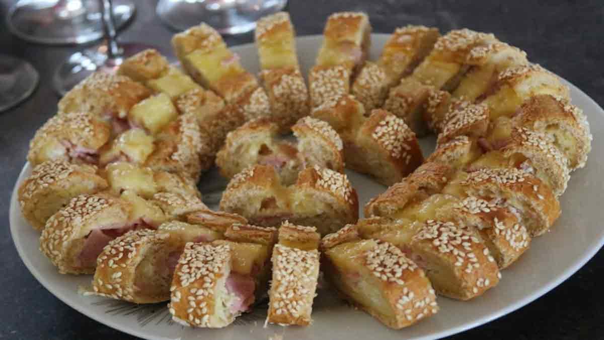 Croustillante baguette apéro œuf-jambon-fromage
