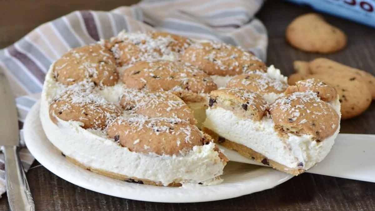 gâteau à la noix de coco et aux biscuits Gocciole