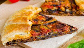 tarte salée aux aubergines et au parmesan