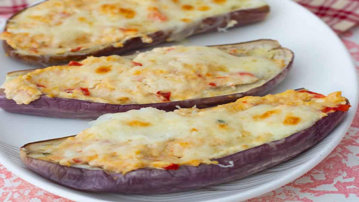 aubergines farcies au poulet