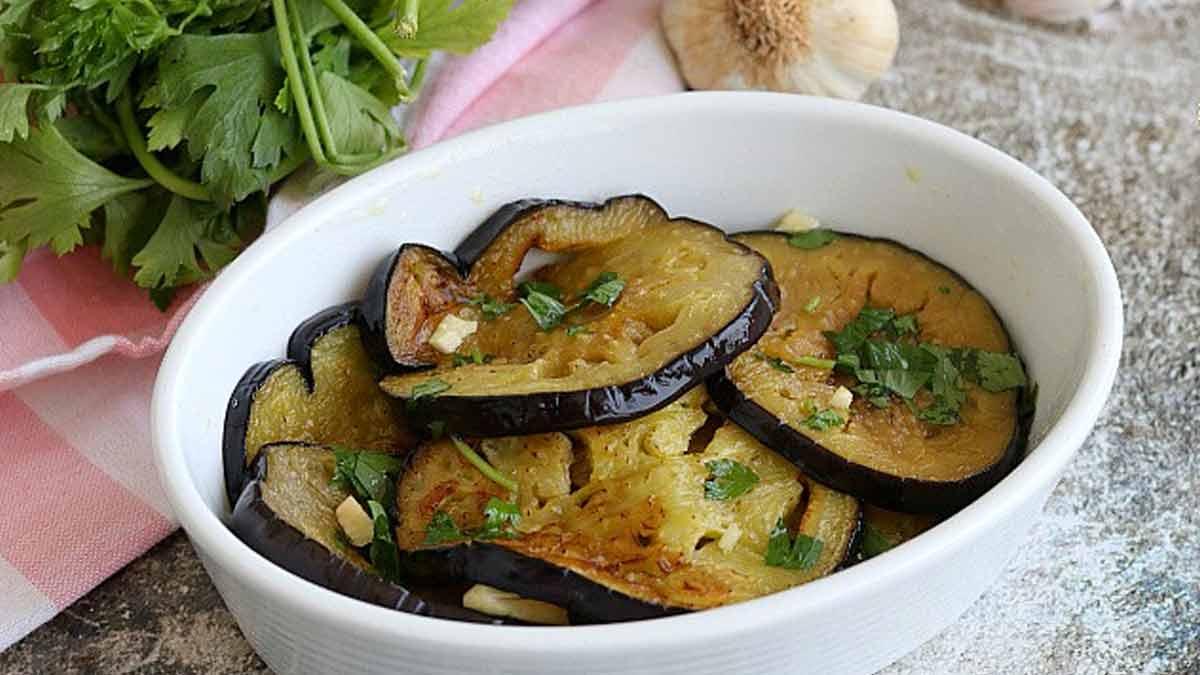 aubergines frites marinées