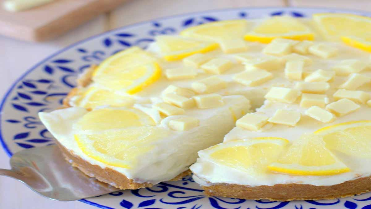 cheesecake au citron et chocolat blanc