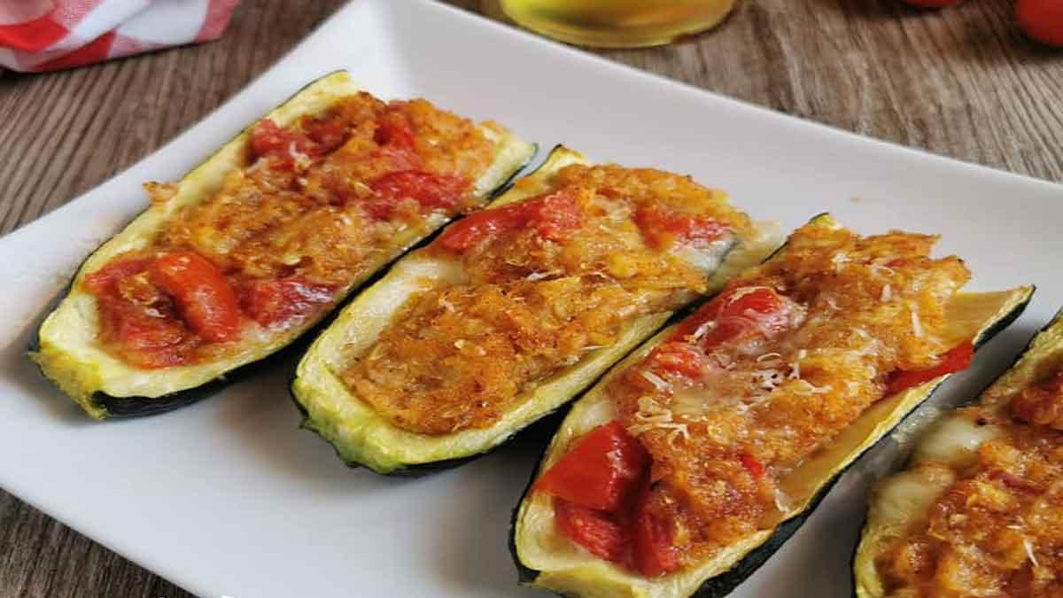 courgette farcie aux tomates