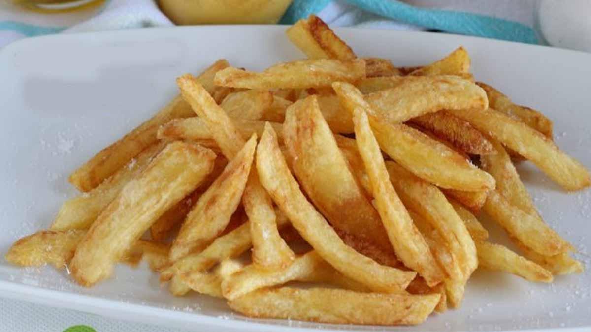 Frites croustillantes et légères