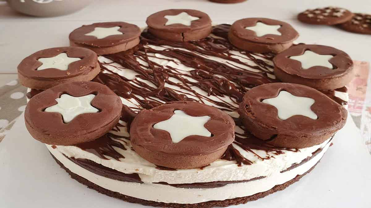 gâteau aux biscuits pan di stelle