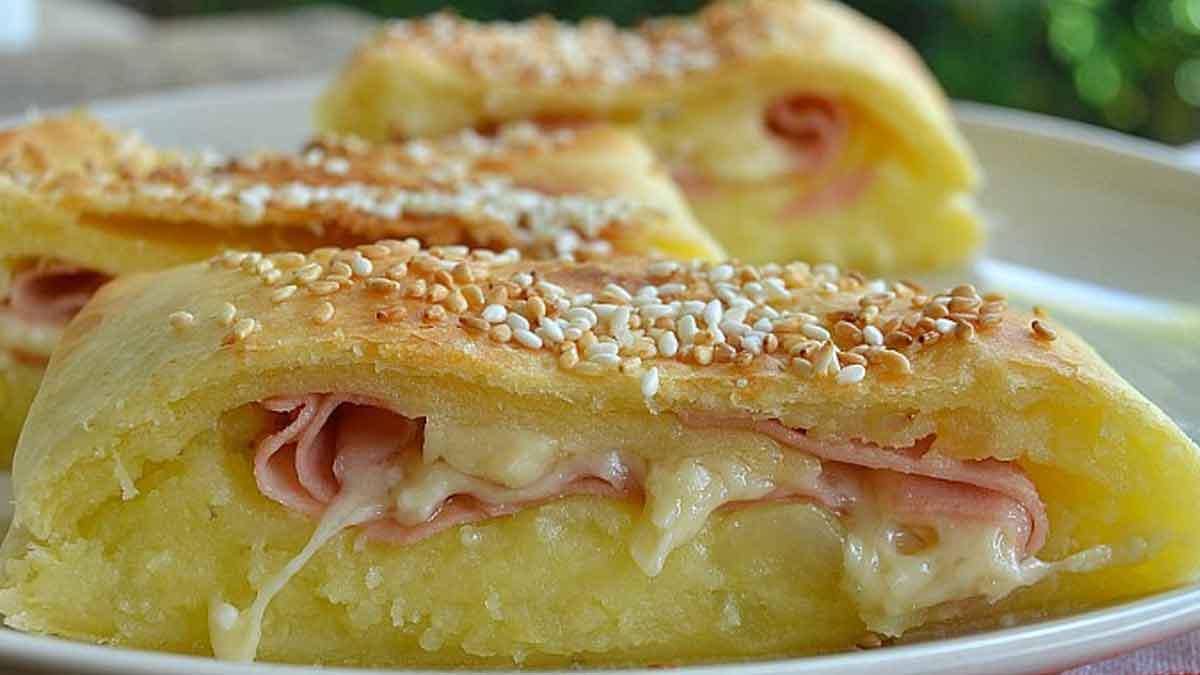 Gâteau rustique de pommes de terre
