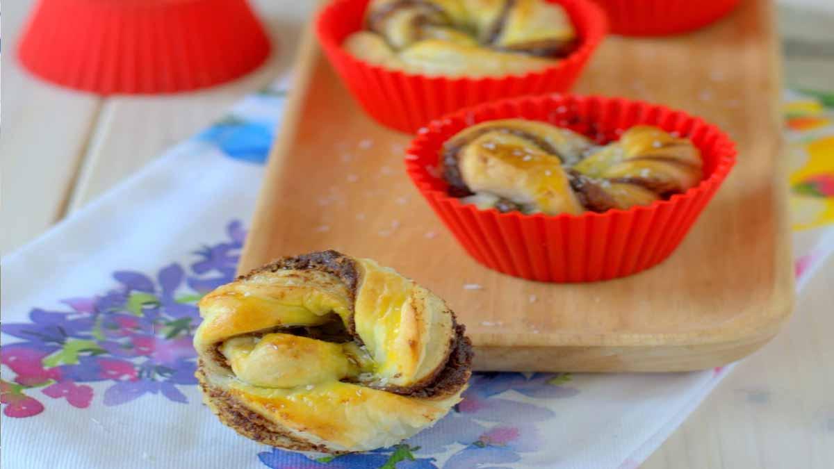 Muffins feuilletés au nutella