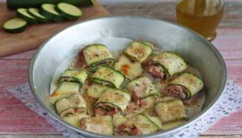 Rouleaux de courgettes farcis au jambon-mozzarella