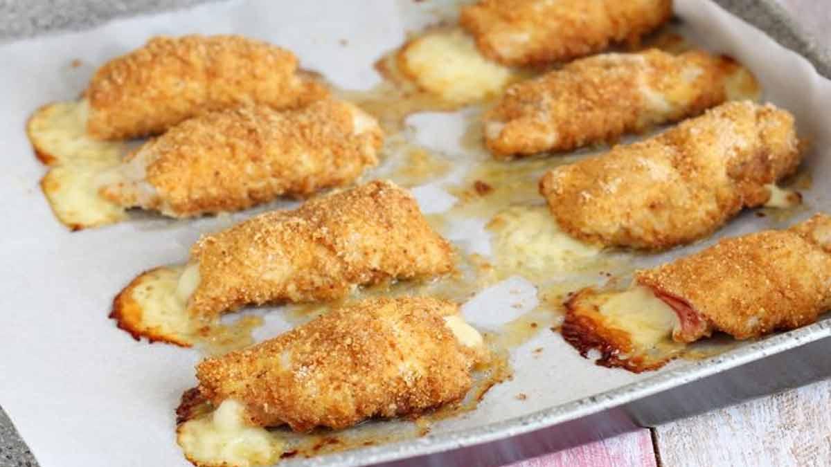 Rouleaux de poulet au salami et mozzarella