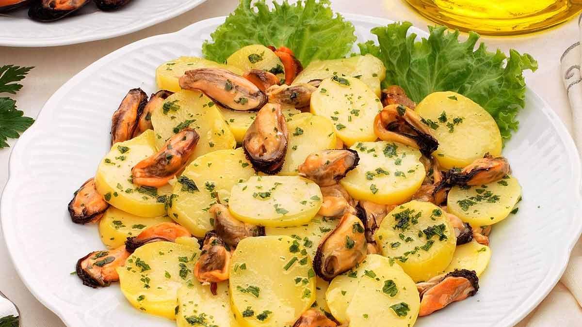 salade de pommes de terre et moules