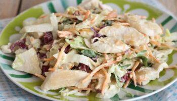 salade de poulet à la sauce au yaourt