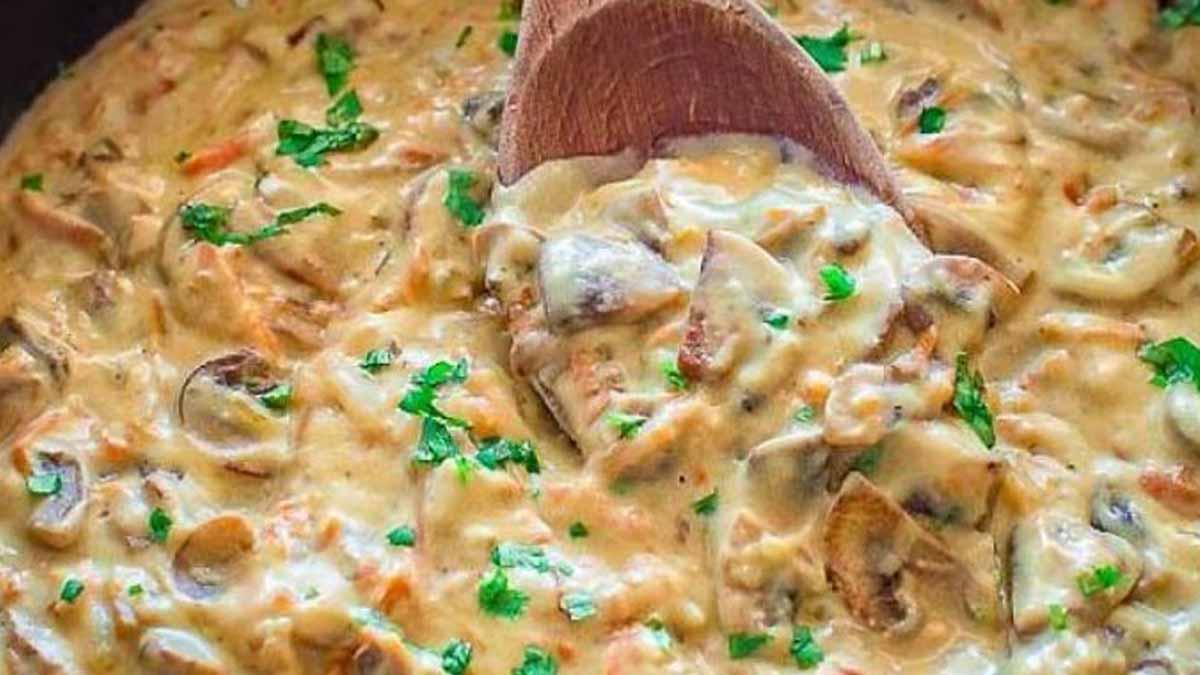 sauce aux champignons grillés