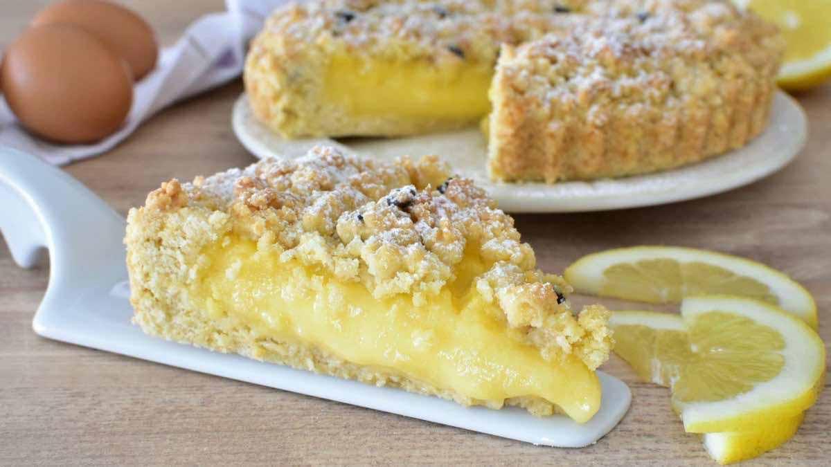Tarte au citron et à la crème pâtissière