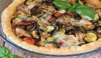 tarte aux légumes et thon