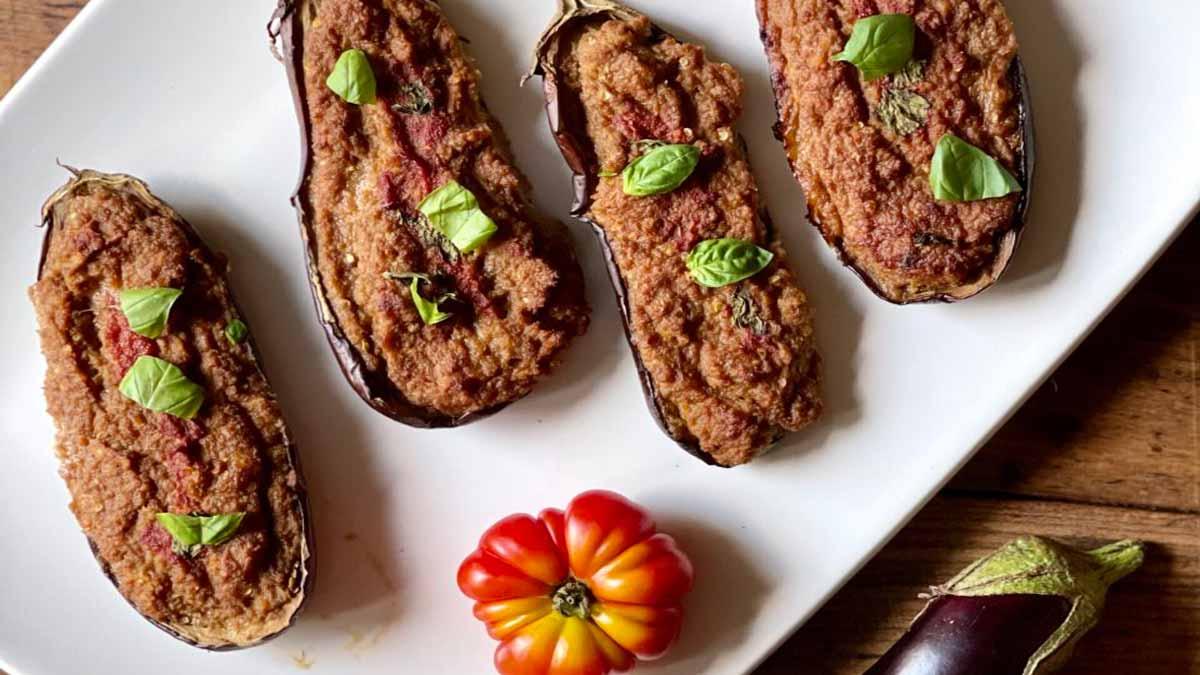 aubergines farcies à la viande