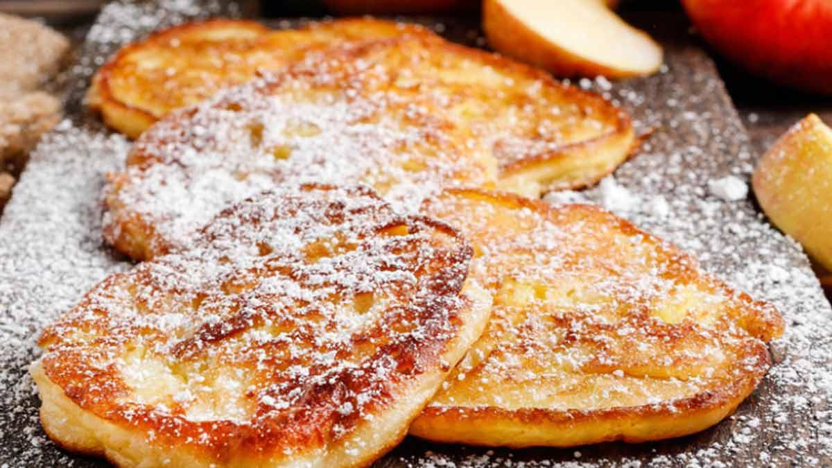 beignets aux pommes à la poêle