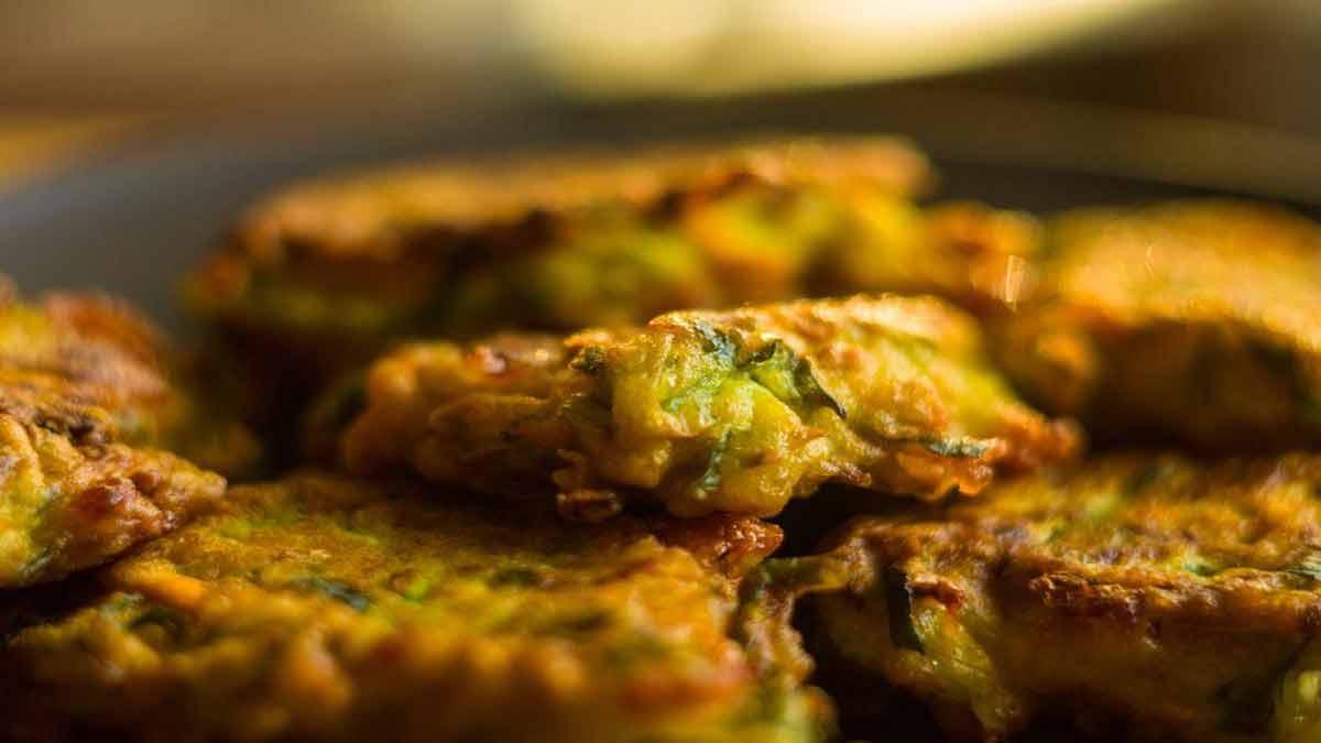 beignets de courgettes à la menthe et mozzarella