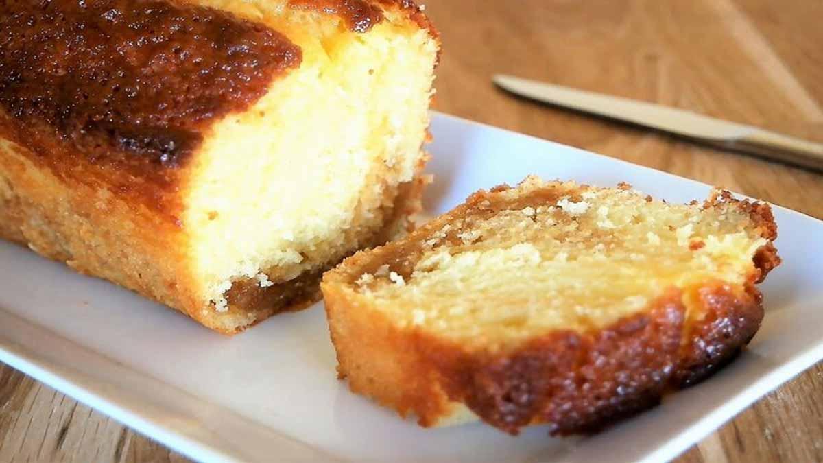 cake au yaourt et caramel beurre salé