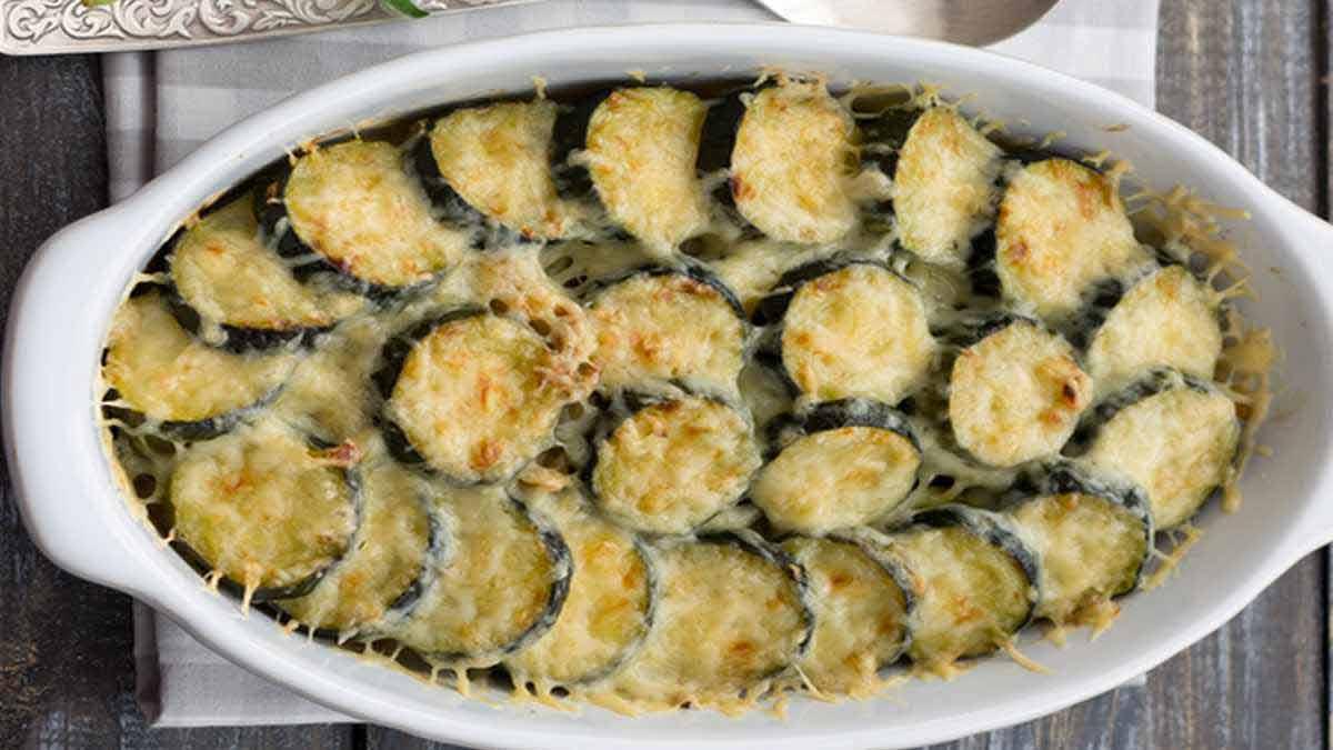courgettes au four avec du fromage