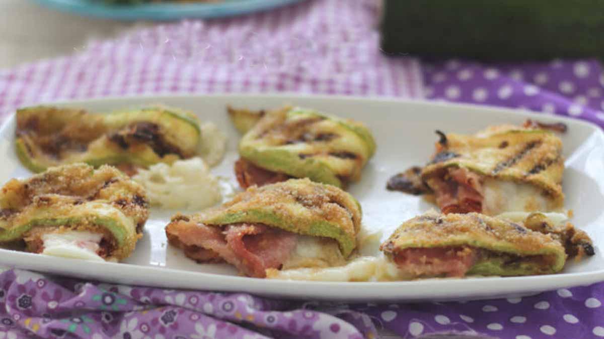 courgettes farcies à la mozzarella et jambon