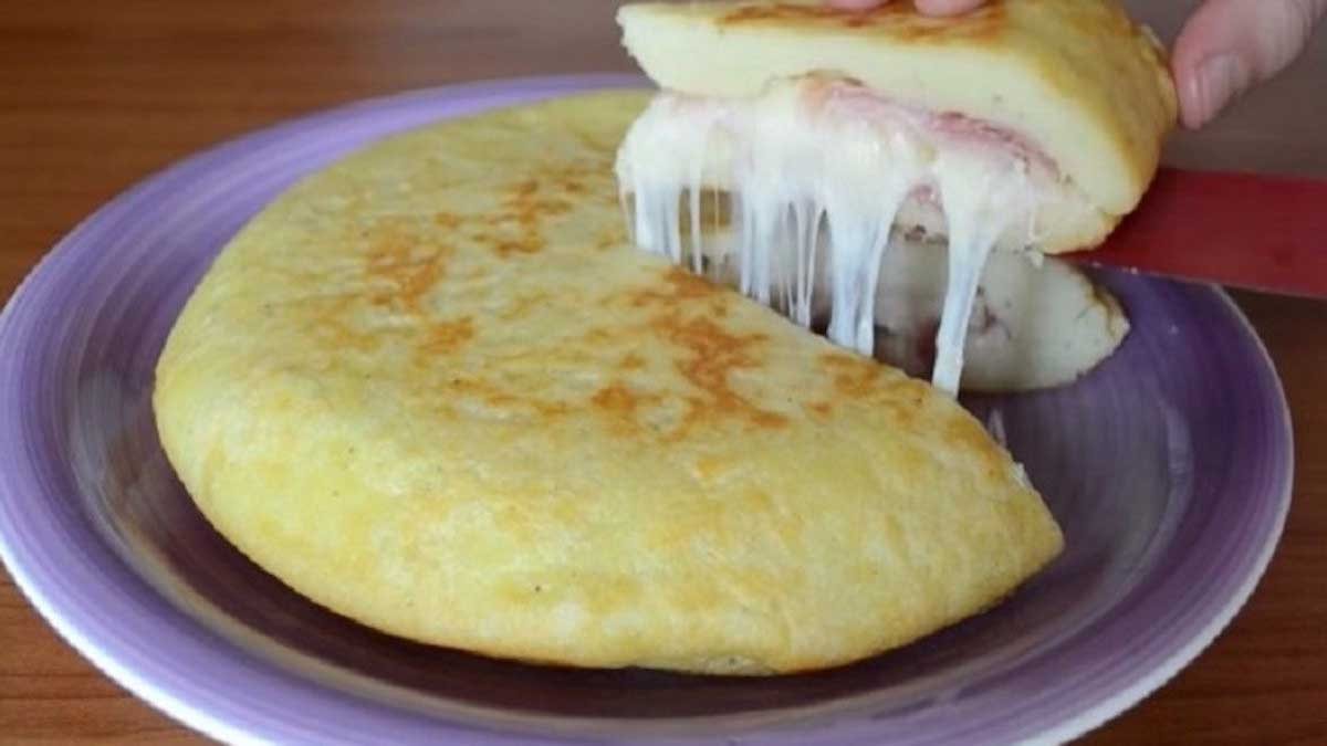 focaccia au jambon et fromage