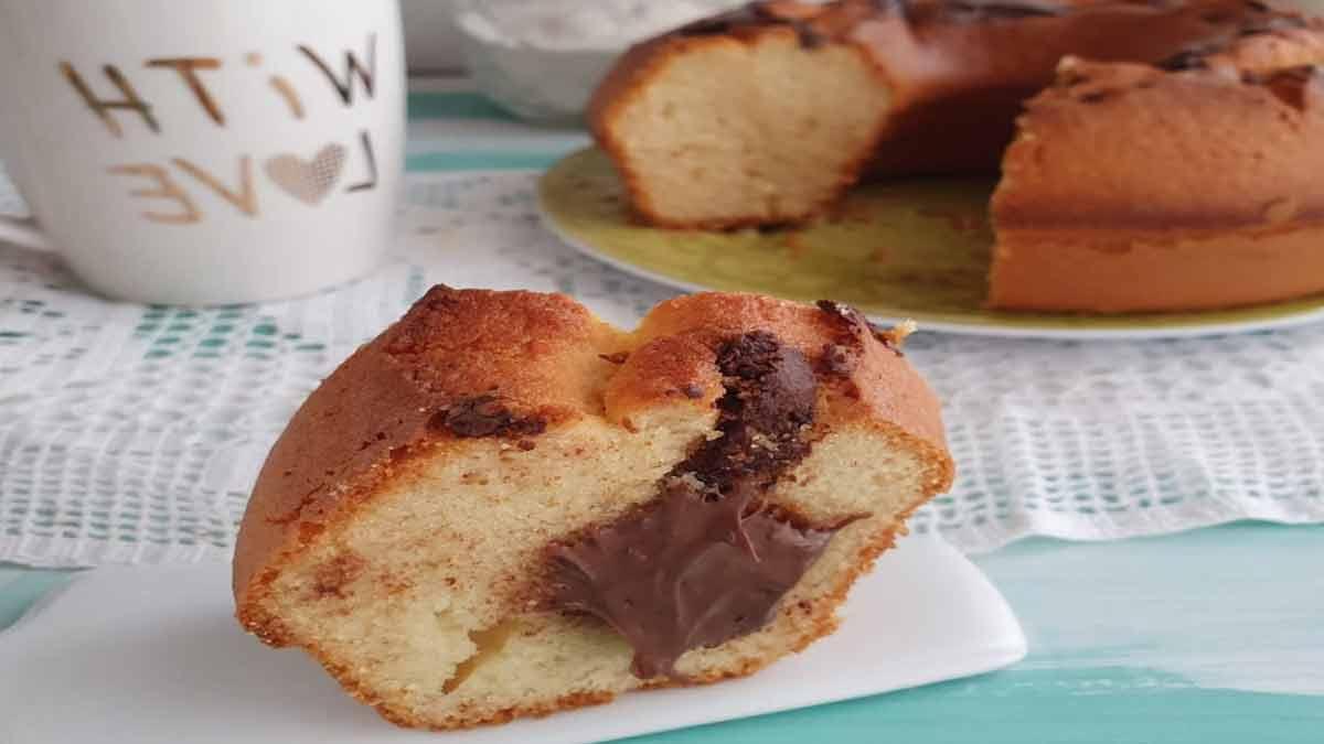 gâteau aux amandes et au Nutella
