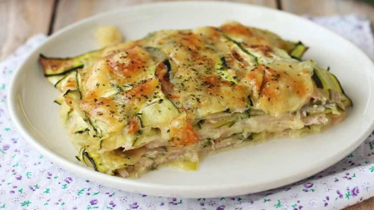 gratin de courgettes au jambon et fromages