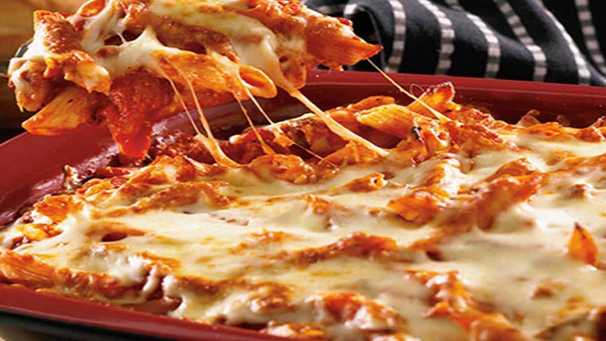 gratin de pâtes aux tomates et 3 fromages