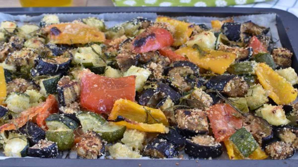 légumes gratinés au four