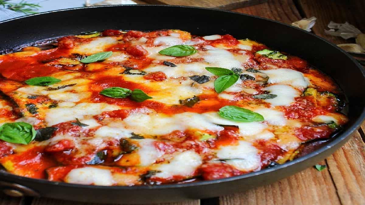 pizzaiola de courgettes à la poêle