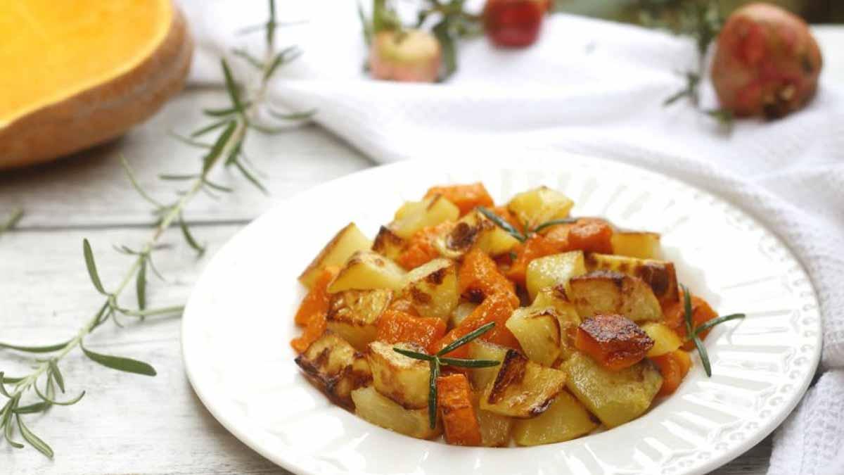 pommes de terre et potiron au fou