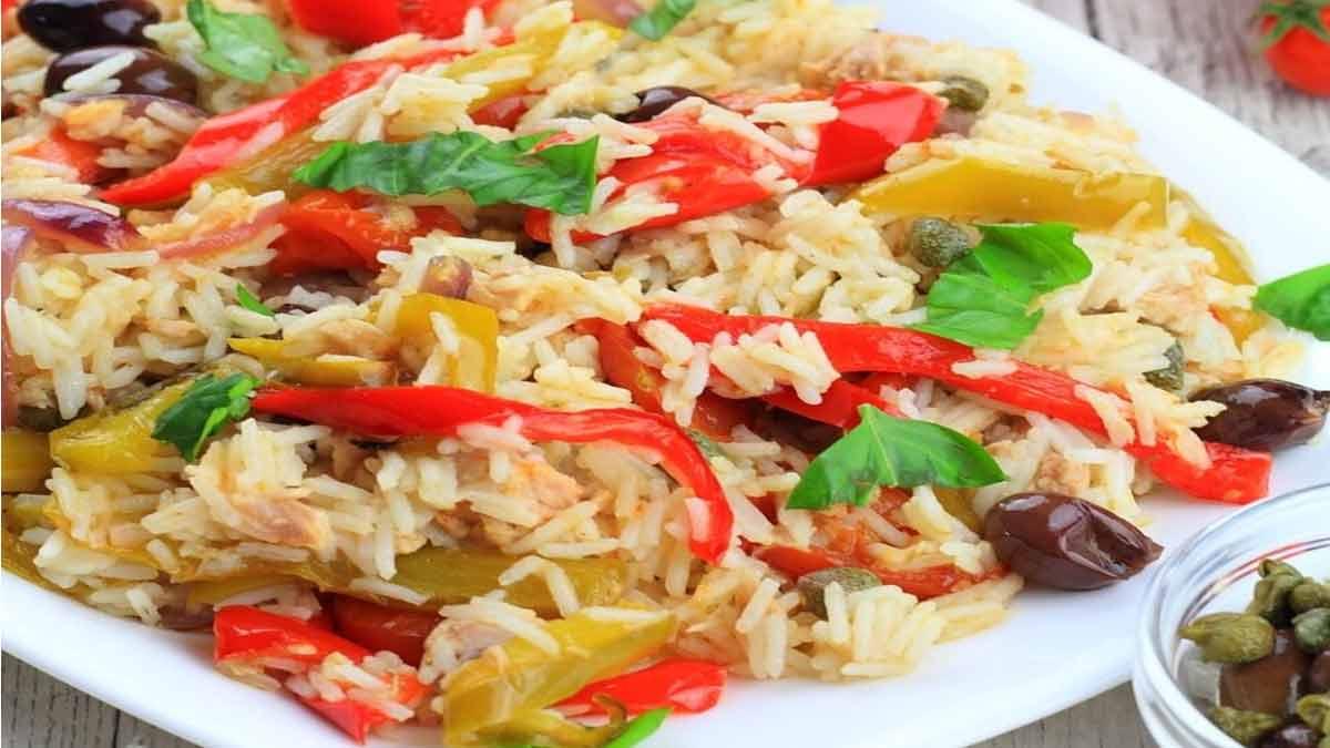 riz Basmati avec des poivrons