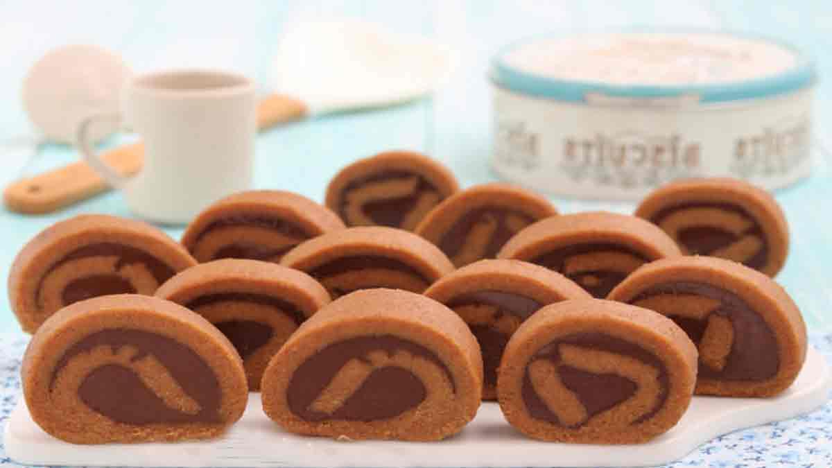 roulés de yaourt et Nutella