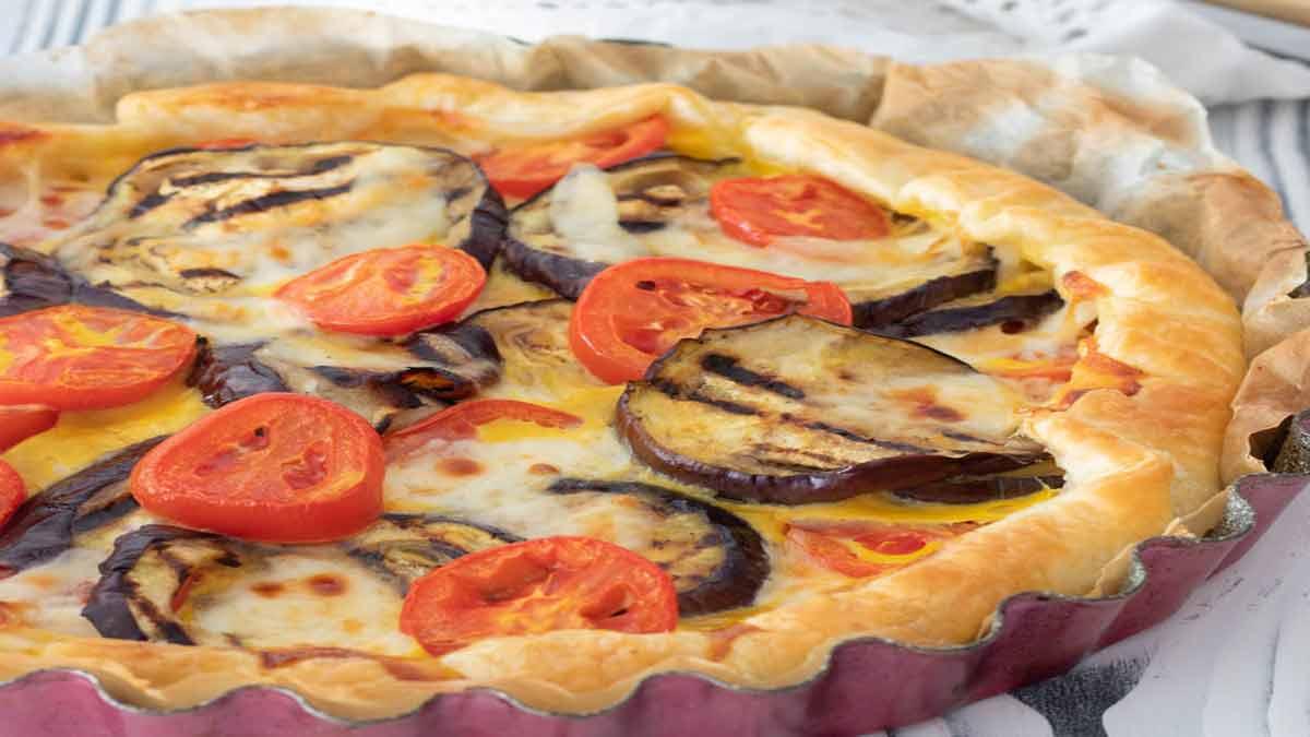 tarte salée aux aubergines et tomates