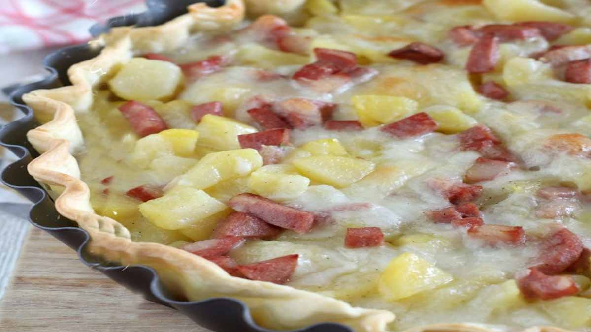 tarte salée aux pommes de terre