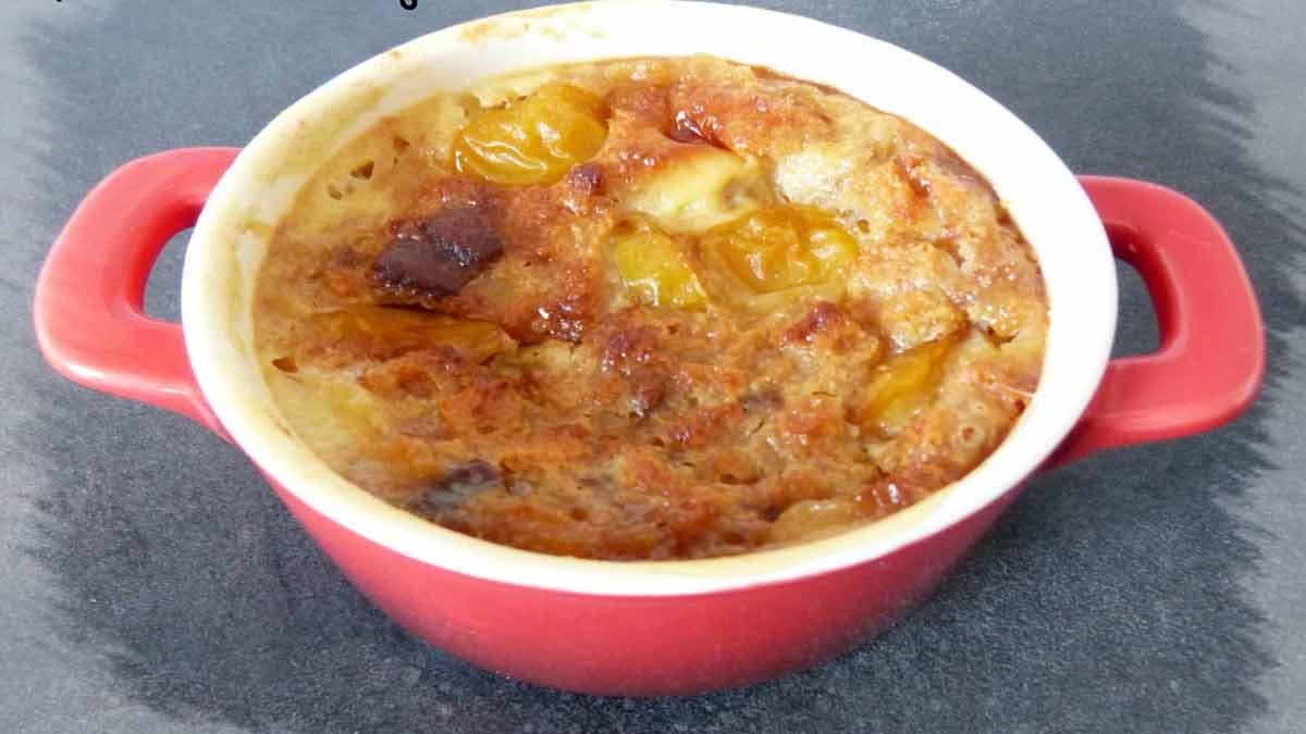 Délicieux clafoutis aux mirabelles et pain d'épices