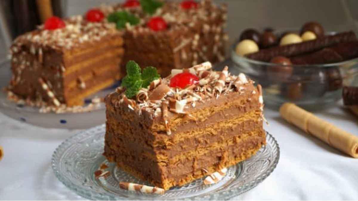 Gâteau aux biscuits et au chocolat